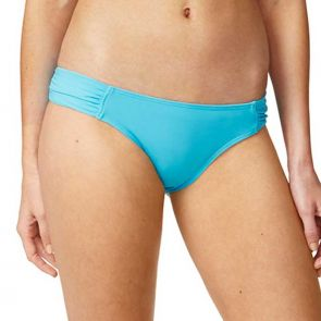 Moontide Contours Ruched Side Hipster Pant Cyan M7404CN