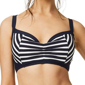 Moontide Above Board Underwire Sports Top Navy M8335AB