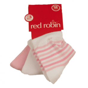 Red Robin Stripes and Plains 3 Pair Pack Blue R21283