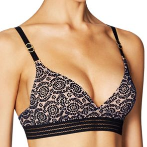 Stella McCartney Lingerie Fleur Dancing Soft Cup Bra Dark Ink/Mahogany Rose S21-281