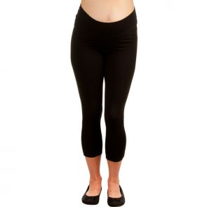 Ripe Maternity Basic 3/4 Legging Black S3202