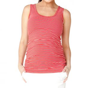 Soon Maternity Moss Tank Red/White Stripe SNH8121