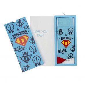 Bamboozld Mens Superdad Sock Card BBS20SUPERDADCARD Sky
