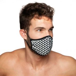 Addicted Triangles Face Mask AC090 Black