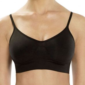 Ambra Seamless Singles Adjustable Shaper Bra AMADJSB Black