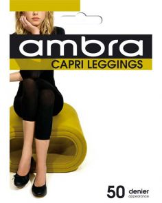 Ambra Capri Footless Tight/Legging CAPTI Black