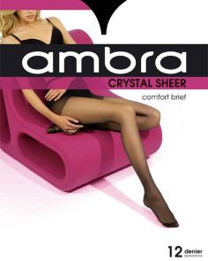 Ambra Crystal Sheer Classic Pantyhose CRYSHPH Almost Black