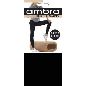 Ambra Fleece Opaque Leggings AMTRACKLEG Black