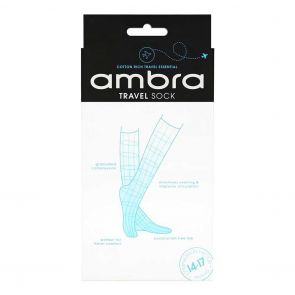 Ambra Qantas Travel Sock AQATRASO Black