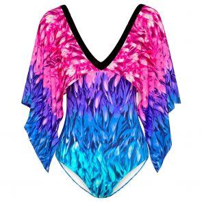 Aqua Blu Phoenix Ambrosia Swim One Piece A091717 Pink/Blue