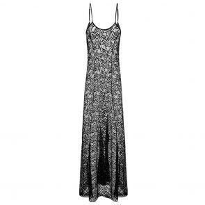 Aqua Blu Luxe Lace Beach Maxi Dress A081721 Black