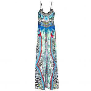 Aqua Blu Savannah Beach Maxi Dress A071721 Blue