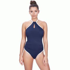 Freya Swim In The Navy Underwire Swim High Neck Suit AS3860 Marine