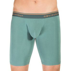Obviously EveryMan Boxer Brief 9 Inch Leg B01 Teal