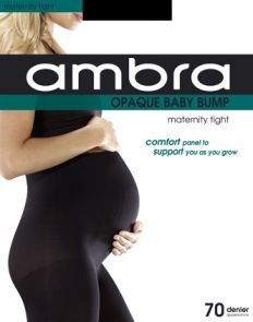 Ambra 70D Opaque Baby Bump Tight ABABUO Black