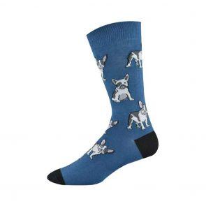 Bamboozld Mens French Terrier Sock BBS17FRENCH Denim/Navy