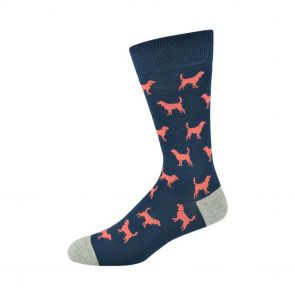 Bamboozld Mens Ditsy Dog Sock C-BBS19DITSYDOG Navy