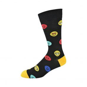 Bamboozld Mens Emoji Bamboo Sock C-BBS19EMOJI Black