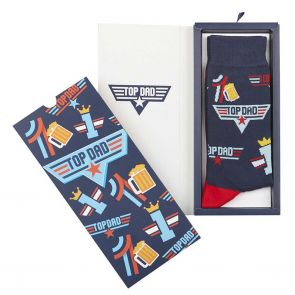 Bamboozld Mens Top Dad Sock Card BBS21TOPDADCARD Navy