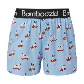 Bamboozld Mens Boxer Short Jack Russell BBUW20BJACKRUSS Sky Blue
