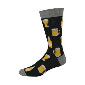 Bamboozld Mens Beer Sock BBW17BEER Charcoal