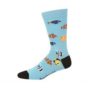 Bamboozld Mens Aquarium Sock BBW20AQUA Bright Blue