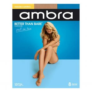 Ambra Better Than Bare No Toe Control Brief Pantyhose BETBNTCON Bondi Buff