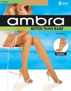 Ambra Better Than Bare Bodyshaping Toeless Pantyhose BETNTPH Bondi Buff