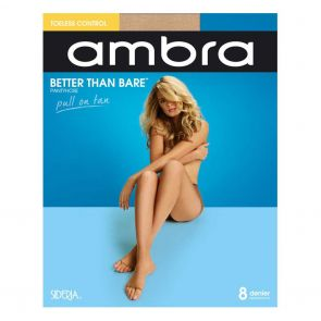 Ambra Better Than Bare No Toe Control Brief Pantyhose BETBNTCON Natural Bisque