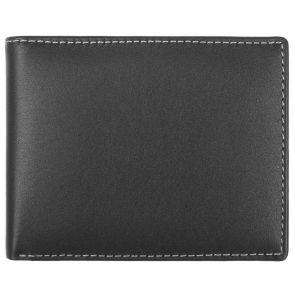 Stewart Stand Stainless Steel Leather Bifold Wallet BF2002 Black