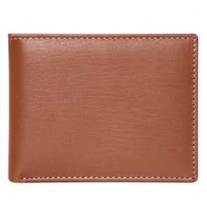 Stewart Stand Stainless Steel Leather Bifold Wallet BF2002 Tan