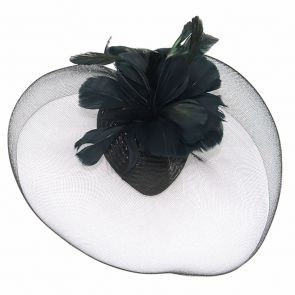 Ivys Symphony Fascinator HA439 Black