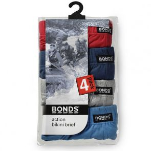 Bonds Action Hipster Brief 4 Pack M8OS4 Multi