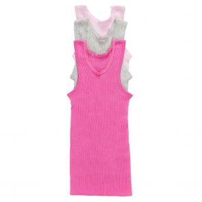 Bonds Baby Vest 3-Pack BXHNW Pink and Grey