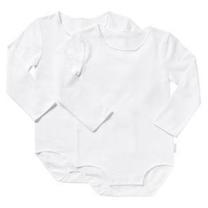 Bonds Wonderbodies Long Sleeve Bodysuit 2 Pack BY4RA White
