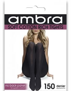 Ambra Cotton Comfort Tight ACOCOTI Black