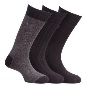 Calvin Klein Barclay Birdseye Crew Socks 3 Pack ECC173 Multi