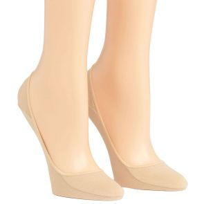 Calvin Klein Sock Essentials Cotton No Show Footlet 2 Pack Nude ECV523