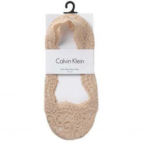 Calvin Klein Victoria Lace No Show Socks ECX517 Bare