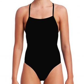 Funkita Strapped In Swim One Piece FS38L Still Black