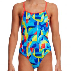 Funkita Girl's Diamond Back Swim One Piece FS11G Brushed Up