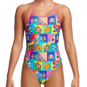 Funkita Girls Diamond Back Swim One Piece FS11G Rat Pack