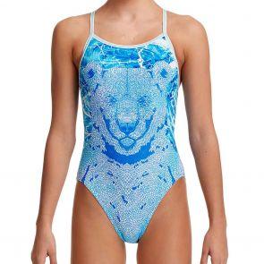Funkita Girls Single Strap Swim One Piece FS16G Bear Suit