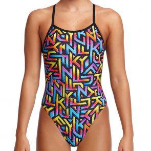 Funkita Girls Single Strap Swim One Piece FS16G Brand Galaxy