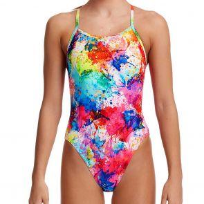 Funkita Girls Single Strap Swim One Piece FS16G Dye Another Day