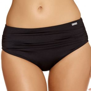 Fantasie Versailles Deep Gathered Swim Brief Control Lining FS5752 Black
