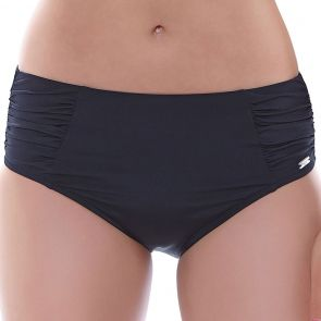 Fantasie Swim Los Cabos Deep Control Gathered Side Brief Black FS6156