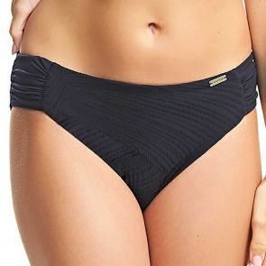 Fantasie Swim Ottawa Mid Rise Swim Brief Gathered Sides FS6358 Black