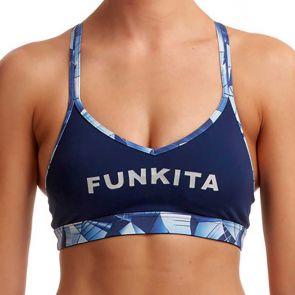 Funkita Ladies Bondage Crop Top FS77L Blue