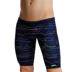 Funky Trunks Boys Training Swim Jammers FT37B Sound System
